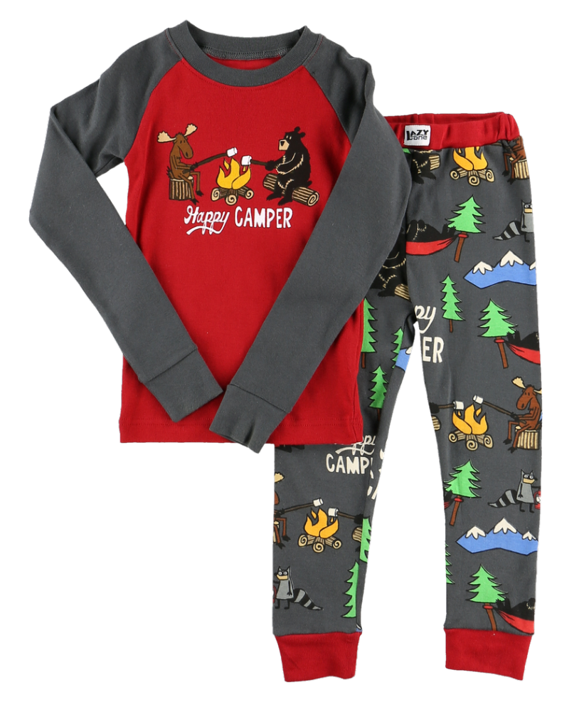 Happy Camper - Kids Long Sleeve PJ Set - Lazy One® | Boys Pyjamas